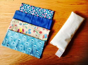 Lavender Eye Pillows. £10 with 2 free patterned, washable covers
