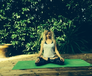 meditation pose photo