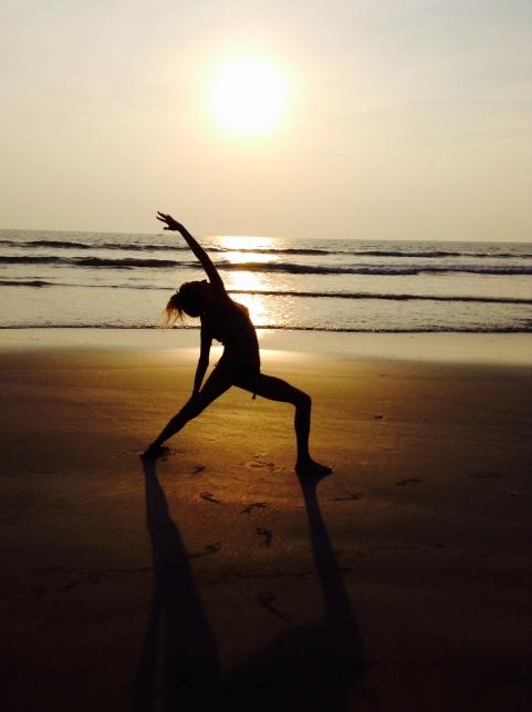 reverse warrior beach india