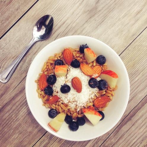 Kamut & coconut porridge photo