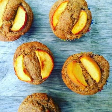 lemon & nectarine rye flour muffins