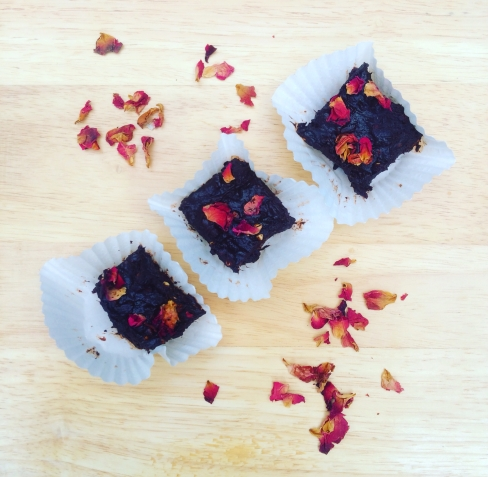 Chocolate, Almond & Rose Fudge