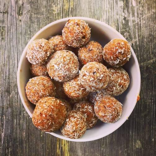 Carrot Cake & Coconut Energy Balls
