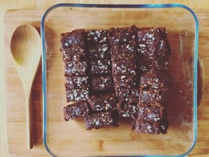 mint choc brownies